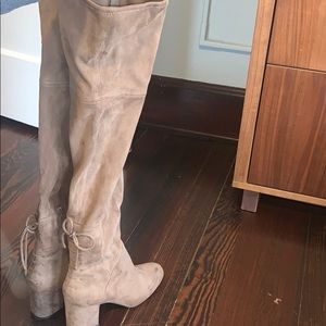Aldo over the knee light brown suede boots.